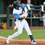 Jose Azocar led off the bottom of the first with a hit and scored the first run of the game. The San Antonio Missions beat the Midland RockHounds 5-4 Thursday at Wolff Stadium. - photo by Joe Alexander