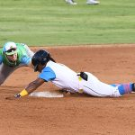 Eguy Rosario steals second base. The San Antonio Missions beat the Midland RockHounds 5-4 Thursday at Wolff Stadium. - photo by Joe Alexander