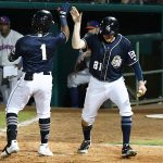 Eguy Rosario hit a two-run homer in the sixth inning, when the San Antonio Missions scored six runs to take a 6-3 lead over the Midland RockHounds on Friday at Wolff Stadium. - photo by Joe Alexander