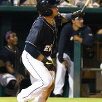 Juan Fernandez hit a two-run homer in the eighth inning of the San Antonio Missions' 13-3 victory over the Midland RockHounds on Friday at Wolff Stadium. - photo by Joe Alexander