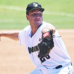 Reiss Knehr. The San Antonio Missions beat the Midland RockHounds 12-6 on Sunday, June 13, 2021, at Wolff Stadium. The Missions won five of the six games in the series. - photo by Joe Alexander