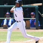 CJ Abrams. The San Antonio Missions beat the Midland RockHounds 12-6 on Sunday, June 13, 2021, at Wolff Stadium. The Missions won five of the six games in the series. - photo by Joe Alexander