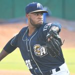 San Antonio Missions starting pitcher Reggie Lawson made his second appearance of the season and went two scoreless innings. The Missions beat the Northwest Arkansas Naturals 5-3 on Tuesday, June 15, 2021, at Wolff Stadium. - photo by Joe Alexander