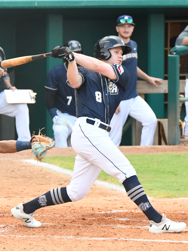 The San Antonio Missions' Jack Suwinski hit a home run, walked and scored twice. The Missions beat the Northwest Arkansas Naturals 5-3 on Tuesday, June 15, 2021, at Wolff Stadium. - photo by Joe Alexander