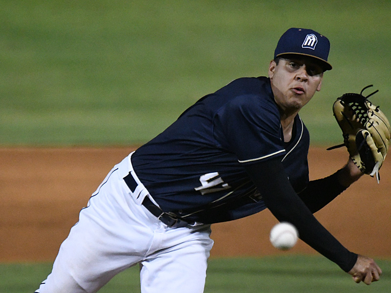 The San Antonio Missions' Adrian Martinez pitched five innings and got the win. The Missions beat the Northwest Arkansas Naturals 5-3 on Tuesday, June 15, 2021, at Wolff Stadium. - photo by Joe Alexander