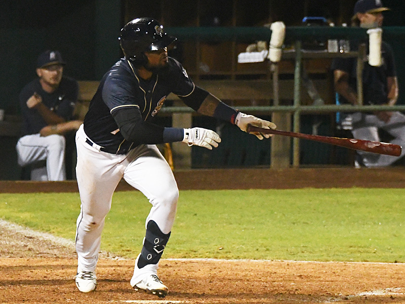 The San Antonio Missions' Allen Cordoba had a hit, a run and a sacrifice fly. The Missions beat the Northwest Arkansas Naturals 5-3 on Tuesday, June 15, 2021, at Wolff Stadium. - photo by Joe Alexander