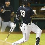 The San Antonio Missions' Jose Azocar singles in the fourth inning to drive in Jake Suwinski. The Missions beat the Northwest Arkansas Naturals 5-3 on Tuesday, June 15, 2021, at Wolff Stadium. - photo by Joe Alexander