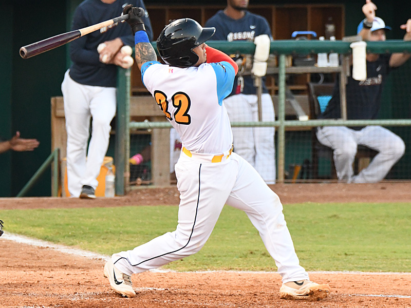 Juan Fernandez hit his third home run of the season to give the Missions a 3-0 lead in the fourth inning against the Northwest Arkansas Naturals on Thursday at Wolff Stadium. - photo by Joe Alexander