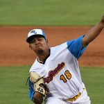 Osvaldo Hernandez started on the mound for the San Antonio Missions and held the Northwest Arkansas Naturals scoreless the first four innings on Thursday at Wolff Stadium. - photo by Joe Alexander