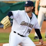 San Antonio Missions starting pitcher Aaron Leasher got the win after working five innings and allowing one run. The Missions beat the Northwest Arkansas Naturals 14-6 Friday at Wolff Stadium. - photo by Joe Alexander