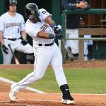 San Antonio Missions second baseman Eguy Rosario had two hits including a triple. The Missions beat the Northwest Arkansas Naturals 14-6 Friday at Wolff Stadium. - photo by Joe Alexander