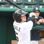 San Antonio Missions catcher Chandler Seagle had two hits and scored three times. The Missions beat the Northwest Arkansas Naturals 14-6 Friday at Wolff Stadium. - photo by Joe Alexander