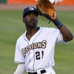 Dwanya Williams-Sutton played left field and had four hits in his second game as a San Antonio Mission. The Missions beat the Northwest Arkansas Naturals 14-6 Friday at Wolff Stadium. - photo by Joe Alexander