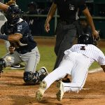 Eguy Rosario scored in both the sixth and seventh innings. The San Antonio Missions beat the Northwest Arkansas Naturals 6-5 on Saturday at Wolff Stadium. - photo by Joe Alexander