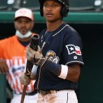 San Antonio Missions shortstop and San Diego Padres prospect CJ Abrams playing against the Corpus Christi Hooks on Wednesday, June 30, 2021, at Wolff Stadium. - photo by Joe Alexander