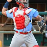 Ivan Herrera, a St. Louis Cardinals prospect and Springfield catcher, playing against the San Antonio Missions at Wolff Stadium on July 20, 2021. - photo by Joe Alexander