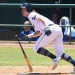 San Antonio Missions outfielder Jack Suwinski playing against the Midland RockHounds on June 13, 2021, at Wolff Stadium. - photo by Joe Alexander
