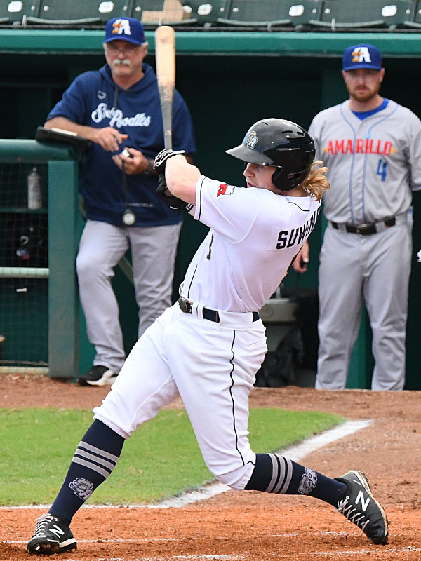 San Antonio Missions outfielder Jack Suwinski playing against the Amarillo Sod Poodles in July 6, 2021, at Wolff Stadium. - photo by Joe Alexander