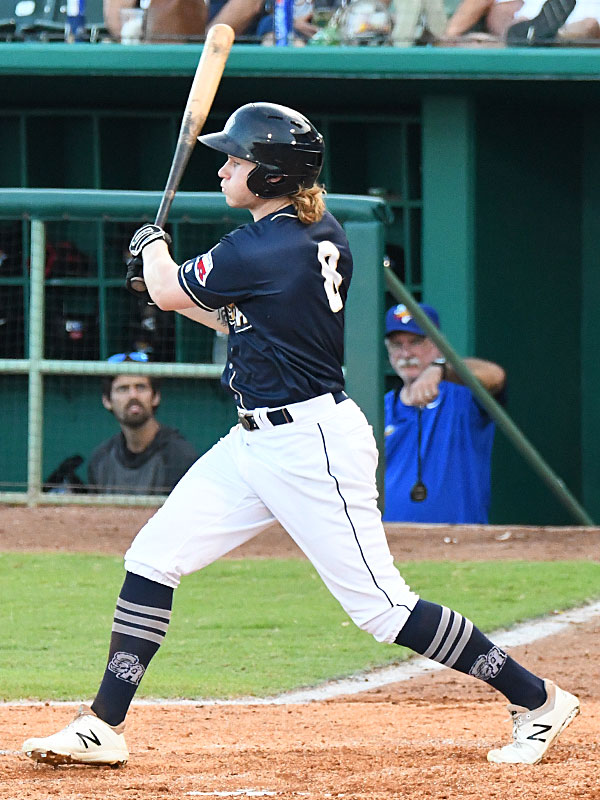 San Antonio Missions outfielder Jack Suwinski playing against the Amarillo Sod Poodles on July 7, 2021, at Wolff Stadium. - photo by Joe Alexander