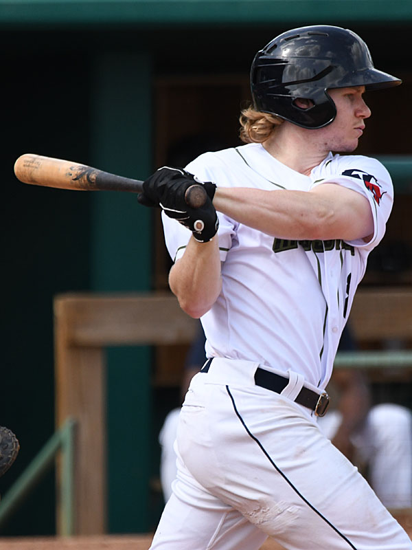 San Antonio Missions outfielder Jack Suwinski playing against the Amarillo Sod Poodles on July 11, 2021, at Wolff Stadium. - photo by Joe Alexander