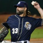 Joe Beimel, a 44-year-old who has pitched in 676 games in the majors, made his season debut on Wednesday, June 30, 2021, with the San Antonio Missions at Wolff Stadium. - photo by Joe Alexander