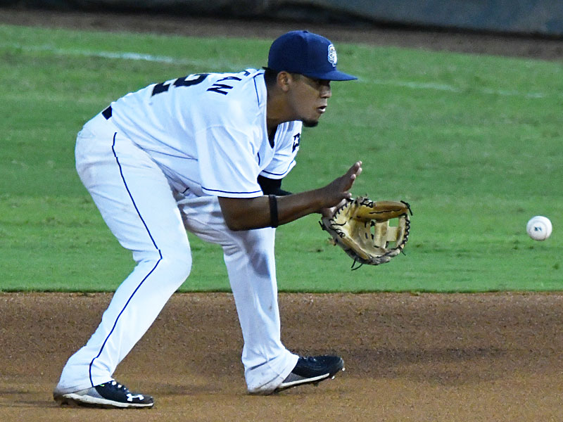Kelvin Melean made his San Antonio Missions debut and played second base in Tuesday's victory over the Amarillo Sod Poodles at Wolff Stadium. - photo by Joe Alexander