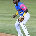 Olivier Basabe playing for the San Antonio Missions against the Corpus Christi Hooks on July 1, 2021, at Wolff Stadium. - photo by Joe Alexander