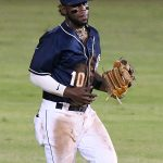 Olivier Basabe playing for the San Antonio Missions against the Corpus Christi Hooks on July 2, 2021, at Wolff Stadium. - photo by Joe Alexander