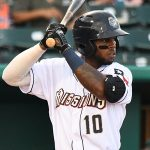 Olivier Basabe playing for the San Antonio Missions against the Corpus Christi Hooks on July 3, 2021, at Wolff Stadium. - photo by Joe Alexander