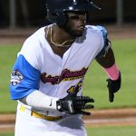 Olivier Basabe playing for the San Antonio Missions against the Amarillo Sod Poodles on July 8, 2021, at Wolff Stadium. - photo by Joe Alexander