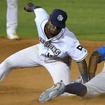 Olivier Basabe playing for the San Antonio Missions against the Amarillo Sod Poodles on July 11, 2021, at Wolff Stadium. - photo by Joe Alexander