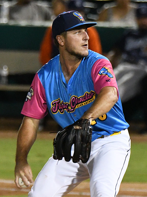 San Antonio Missions starting pitcher Reiss Knehr got the win in Thursday's second game at Wolff Stadium. - photo by Joe Alexander