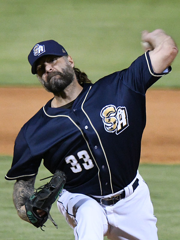 Joe Beimel pitched the final inning for the save on Friday at Wolff Stadium. - photo by Joe Alexander