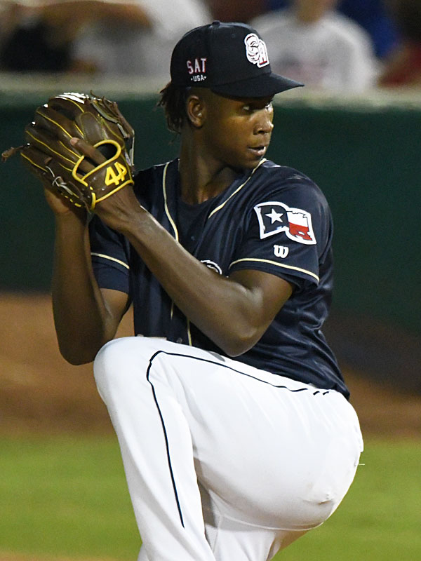 Henry Henry pitched 2 1/3 innings of scoreless innings of relief for the San Antonio Missions on Sunday night at Wolff Stadium. - photo by Joe Alexander