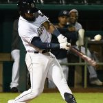Allen Cordoba leads off the bottom of the 10th inning with an RBI double as the San Antonio Missions beat the Amarillo Sod Poodles 5-4 on Tuesday at Wolff Stadium. - photo by Joe Alexander