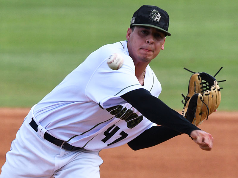 San Antonio Missions starter Adrian Martinez was the winning pitcher in a 6-1 victory over the Amarillo Sod Poodles on Sunday at Wolff Stadium. - photo by Joe Alexander