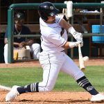 Michael Curry hits a single to drive in the San Antonio Missions' first two runs of the game in a 6-1 victory over the Amarillo Sod Poodles on Sunday at Wolff Stadium. - photo by Joe Alexander