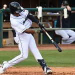 The San Antonio Missions Jose Azocar hit his fifth home run of the season in a 6-1 victory over the Amarillo Sod Poodles on Sunday at Wolff Stadium. - photo by Joe Alexander