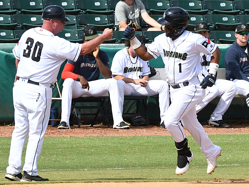 The San Antonio Missions' Eguy Rosario hit his seventh home run of the season in a 6-1 victory over the Amarillo Sod Poodles on Sunday at Wolff Stadium. - photo by Joe Alexander
