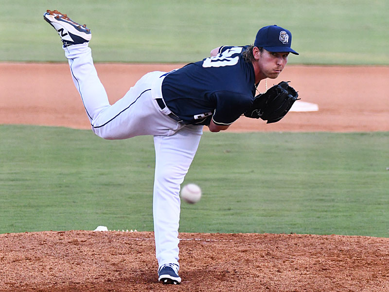 San Antonio Missions starter Jordan Humphreys was the winning pitcher in Friday's victory over the Springfield Cardinals at Wolff Stadium. - photo by Joe Alexander