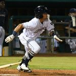 Ethan Skender had an RBI triple in the fourth inning of his San Antonio Missions debut on Friday at Wolff Stadium. - photo by Joe Alexander