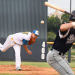 Kolby Lunsford. The Flying Chanclas de San Antonio beat the Brazos Valley on Wednesday in the Texas Collegiate League playoffs to clinch a spot in the championship game. - photo by Joe Alexander