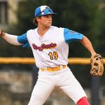 Cole Posey. The Flying Chanclas de San Antonio beat the Brazos Valley on Wednesday in the Texas Collegiate League playoffs to clinch a spot in the championship game. - photo by Joe Alexander