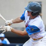 Cole Modgling. The Flying Chanclas de San Antonio beat the Brazos Valley on Wednesday in the Texas Collegiate League playoffs to clinch a spot in the championship game. - photo by Joe Alexander