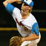 Jarek Wells. The Flying Chanclas de San Antonio beat the Brazos Valley on Wednesday in the Texas Collegiate League playoffs to clinch a spot in the championship game. - photo by Joe Alexander