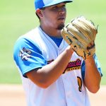 The Flying Chanclas' JT Moeller was starting winning pitcher in the Texas Collegiate League championship game Saturday, Aug. 7, 2021, at Wolff Stadium. - photo by Joe Alexander