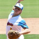 The Flying Chanclas' Jarek Wells pitches in the Texas Collegiate League championship game Saturday, Aug. 7, 2021, at Wolff Stadium. - photo by Joe Alexander