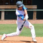 The Flying Chanclas' Julio Riggs pinch hits in the Texas Collegiate League championship game Saturday, Aug. 7, 2021, at Wolff Stadium. - photo by Joe Alexander