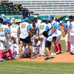 The Flying Chanclas de San Antonio celebrate after winning the Texas Collegiate League title on Saturday, Aug. 7, 2021, at Wolff Stadium. - photo by Joe Alexander
