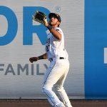 San Antonio Missions right fielder Agustin Ruiz gets under a fly ball on Tuesday at Wolff Stadium. - photo by Joe Alexander